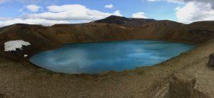 Viti, ein Vulkansee