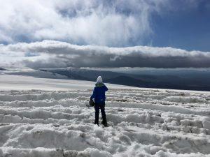 Auf dem Langjökull Gletscher