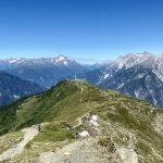 Blick zurück zur Venet Berghütte